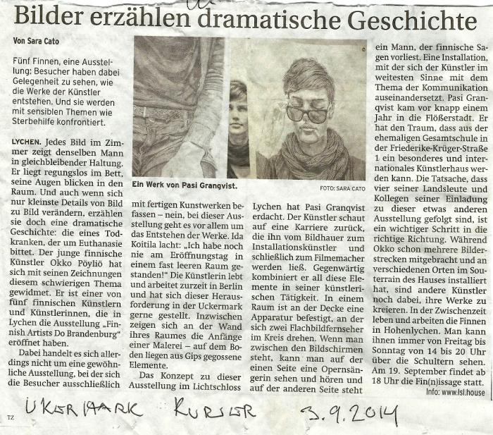 Ukermark Kurier 3.9.2014